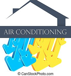 conditioner, jelkép, levegő, otthon