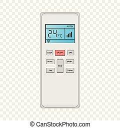 Conditioner remote control mockup, realistic style -...