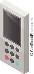 Conditioner remote controller icon, isometric style -...