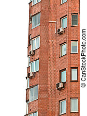 conditioners. - brick building, isolated