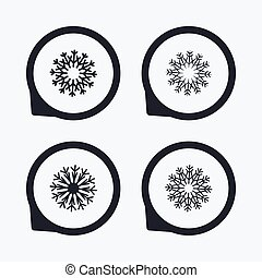 conditioning., artisticos, snowflakes, icons., ar