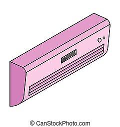 Conditioning, single icon in cartoon style.Conditioning, vector symbol stock illustration web.