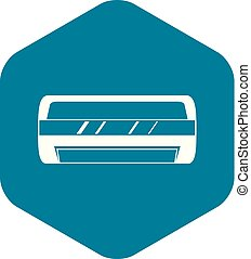 Conditioning split system icon, simple style - Conditioning...