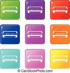 Conditioning split system icons 9 set