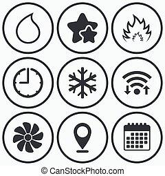 conditioning., ventilating, uppvärmning, hvac., luft