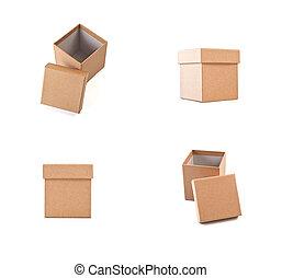 conditionnement, boîtes, ensemble, carton