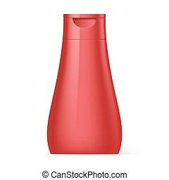 conditionnement, shampoing, bouteille, plastique