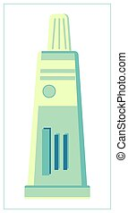 conditionnement, toile, ui., plastique, ton, icon., illustration, isolé, app, vecteur, cosmétique, plat, site, tube, logo, blanc