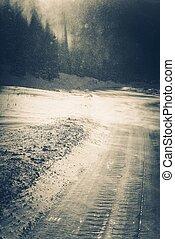 conditions glaciales, route