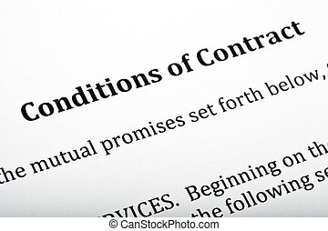 Conditions of Contract Letter