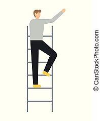 condizione uomo, affari, scala