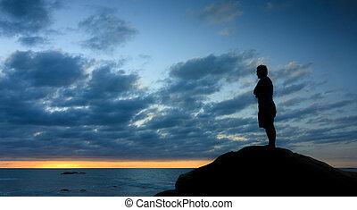 condizione uomo, silhouette