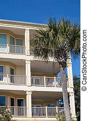 Condo Balconies and Palm Tree