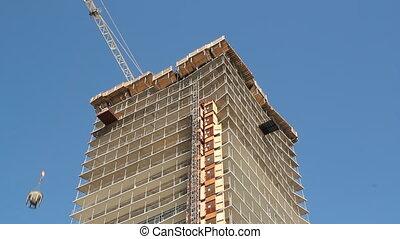 Condo construction. Timelapse.