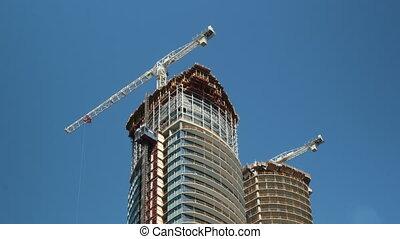 Condo construction Toronto. Tlapse. - Timelapse of...