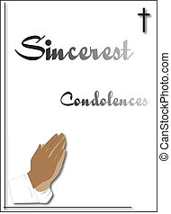 condoleance card for funeral or sending to family or relatives