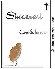 condolenace card - condoleance card for funeral or sending ...