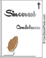 condolenace card - condoleance card for funeral or sending...