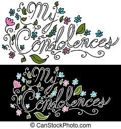condolences, floral, mensagem, meu