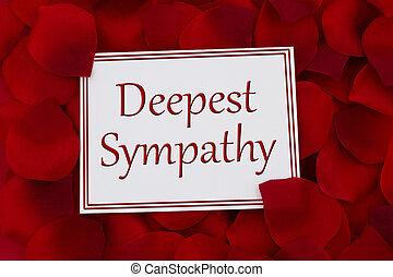 condolencia, deepest, tarjeta