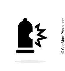Condom bursting icon on white background. Vector...