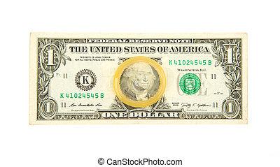 Condom on the US dollars bill