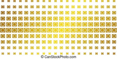 Condom Package Gold Halftone Effect - Condom package icon...
