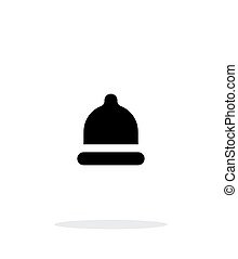 Condom Small size icon on white background. Vector...