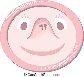 Condom with funny face