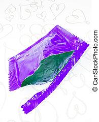 Condom wrapper