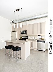 condominio, moderno, cucina