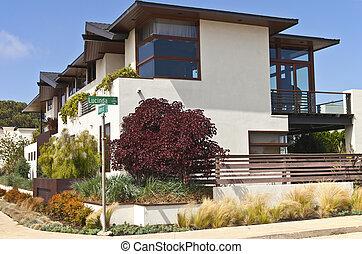 condominios, residencial, loma de posición, california.