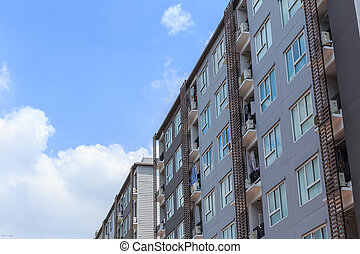 condominium. apartment building