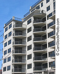 Condominium Building - Modern condominium building in Canada