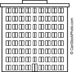 Condominium icon on white background. Vector illustration.