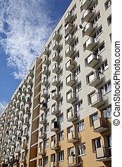 Poland - Gdansk city (also know nas Danzig) in Pomerania region. Zabianka district - gigantic post-socialist apartment blocks.