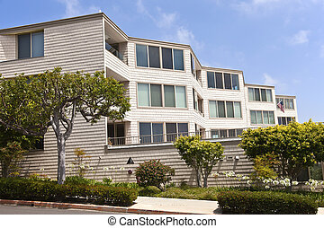 Condominiums in Point Loma San Diego california. -...