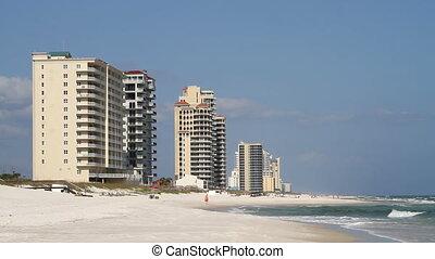 Perdido Key Beach - Condominiums line Perdido Key Beach,...