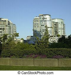 Condos and park