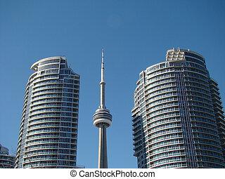 High rise condo apartments tower near CN Tower