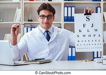 condotta, occhio, ottico, dottore, grafico, lettera, prova, assegno