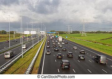 conducción, amsterdam, catorce, holandés, a1, carriles, ...