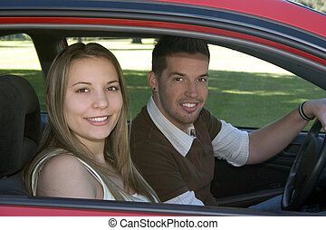 conducción, coche