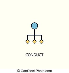 conduct concept 2 colored line icon. Simple yellow and blue element illustration. conduct concept outline design