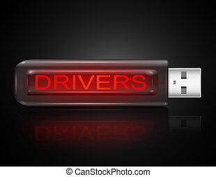 conducteurs, concept.