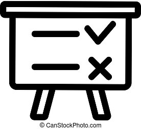 conducting a survey of the vector icon. Isolated contour symbol illustration