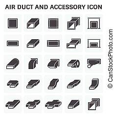 conducto, aire, icono