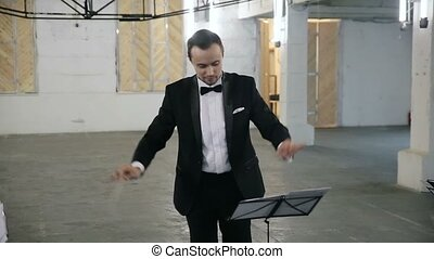 Conductor of classical orchestra, symphonic orchestra, music...