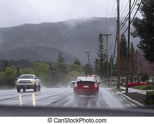 conduite, pluie