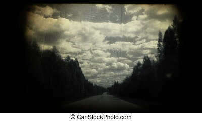 conduite, sur, a, pays, road.